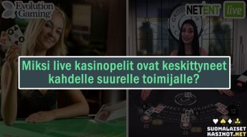 Why live casino games are focused on two big players
