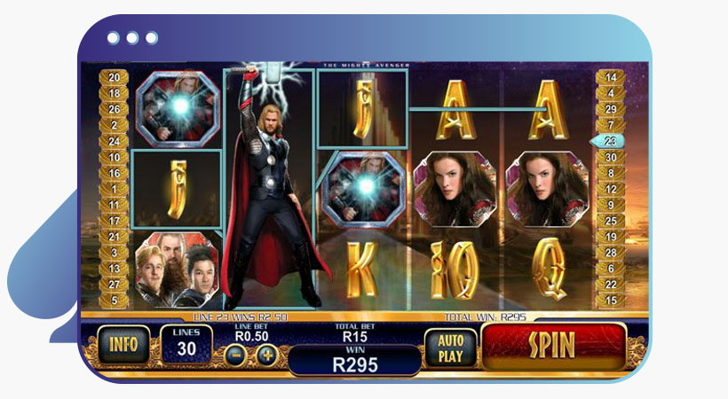 Thor the almighty Marvel slot