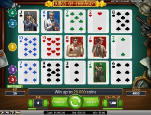 kings of chicago slot in-game view